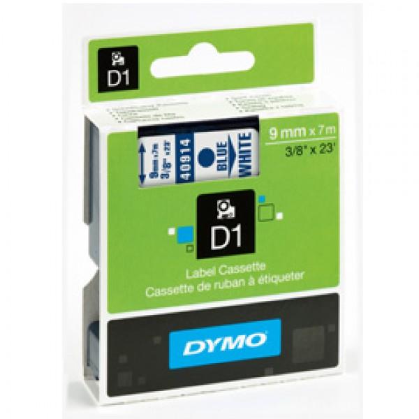NASTRO DYMO TIPO D1 (9MMX7M) BLU/BIANCO 409140
