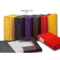 Scatola archivio PROJECT 12 verde 25x35cm dorso 12cm KING MEC