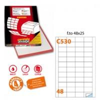 Etichetta adesiva C/530 bianca 100fg A4 48x25mm (48et/fg) Markin