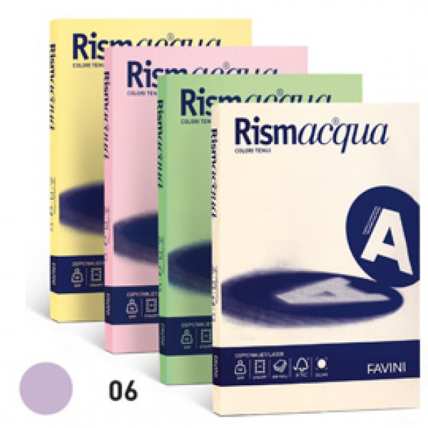 Carta RISMACQUA 140gr A4 200fg lilla 06 FAVINI