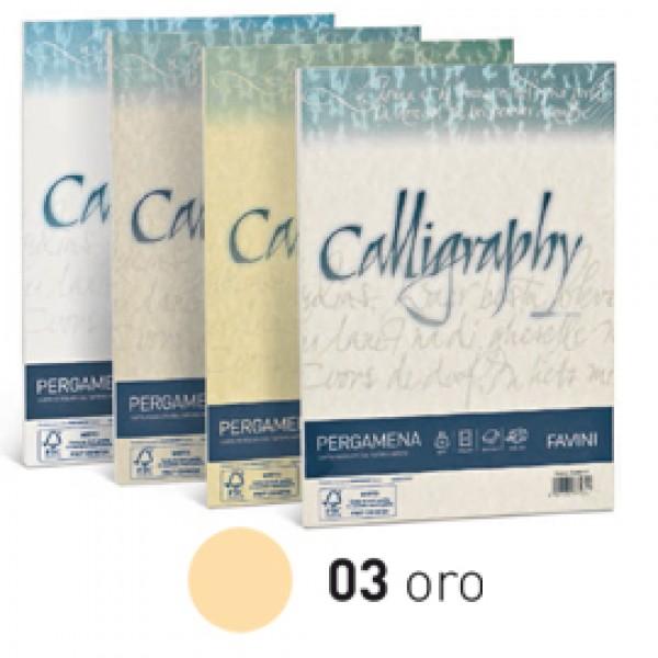 Carta CALLIGRAPHY PERGAMENA 90gr A4 50fg oro 03 FAVINI