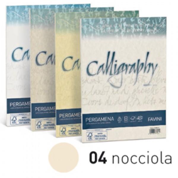 Carta CALLIGRAPHY PERGAMENA 190gr A4 50fg nocciola 04 FAVINI