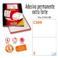 Etichetta adesiva C/509 bianca extra forte 100fg A4 210x148mm (2et/fg) Markin