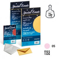 10 buste SPECIAL EVENTS METAL 120gr 110x220mm rosa FAVINI