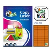Etichetta adesiva LP4F arancio fluo 70fg A4 47,5x25,5mm (44et/fg) Tico