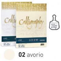 Carta CALLIGRAPHY LINO 200gr A4 50fg avorio 02 FAVINI