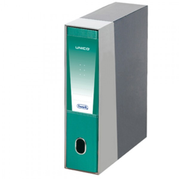 Registratore UNICO c/custodia verde metal dorso 8cm f.to protocollo FAVORIT