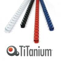 50 DORSI PLASTICI 21 ANELLI 32MM NERO TiTanium