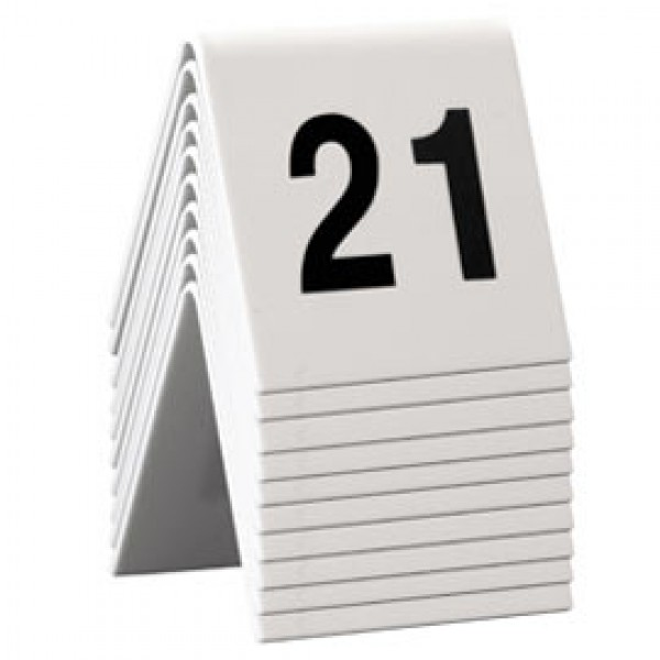 SET da 21 a 30 NUMERI PER I TAVOLI Securit