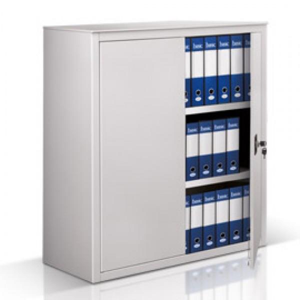 Armadio basso metallo ante batt 100x45cm h116cm grigio for Armadio basso ufficio