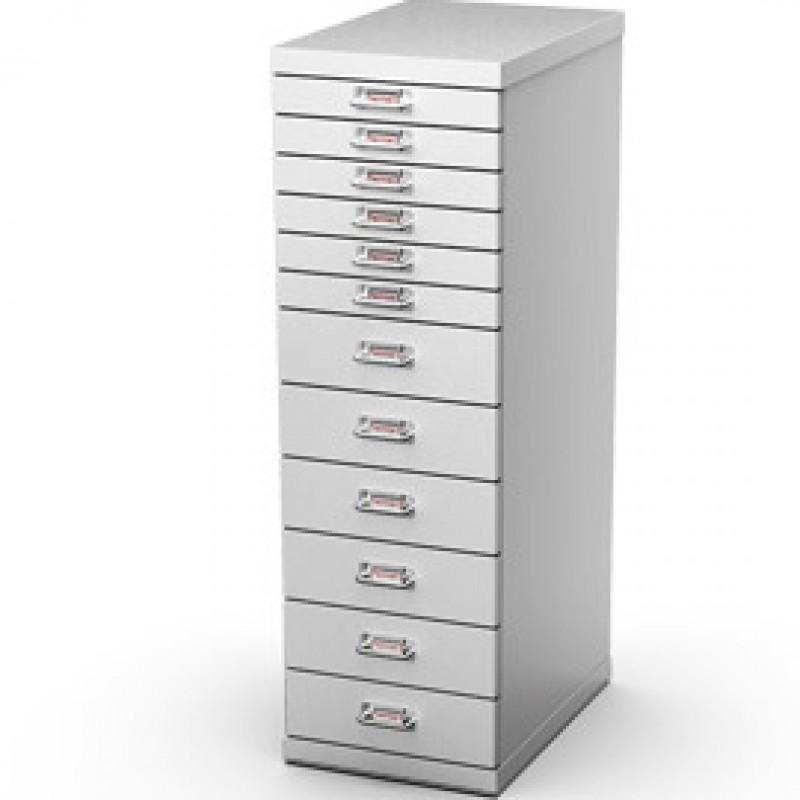 Cassettiera In Metallo Per Ufficio.Cassettiera In Metallo A 12 Cassetti 29x43 H97cm Grigio