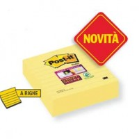 BLOCCO 70fg Post-it®Giallo Canary™ 101x101mm A RIGHE f.to XL 675-SS3CY-EU