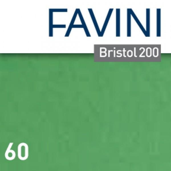 Conf.25 cartoncino Bristol Color 200gr 50x70cm verde 60 Favini