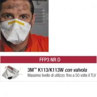 Scatola 10 MASCHERINE K113W FFP3 con valvola
