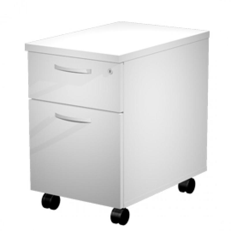 Serrature Per Cassettiere Ufficio.Cassettiera 1 Cass 1 Classificatore Con Ruote Bianco Agora