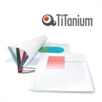 25 Cartelline termiche 3mm Blu Grain Titanium