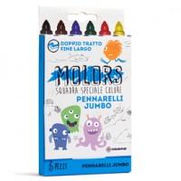 Astuccio 6 pennarelli colorati Jumbo Molors OSAMA