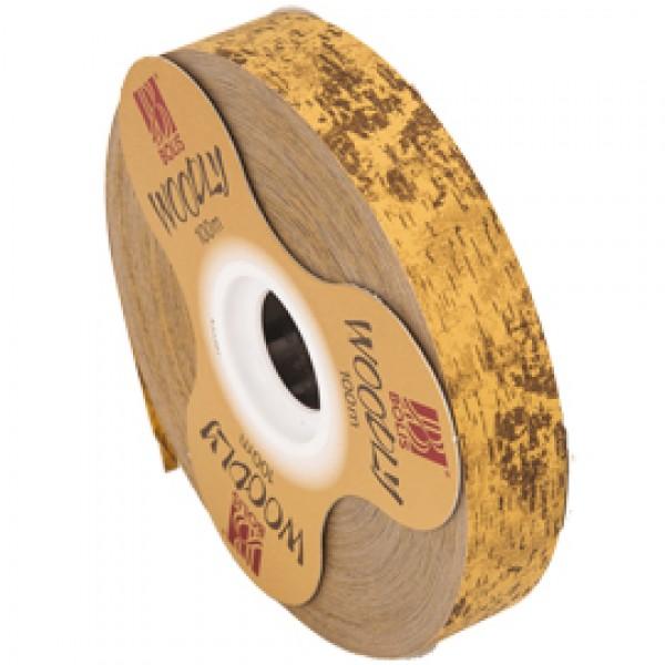 Rotolo nastro Woodly Corteggia 24mmx100mt marrone chiaro Bolis
