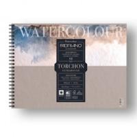 Blocco spiralato 24x32cm 12fg 300gr Watercolour Torchon Fabriano