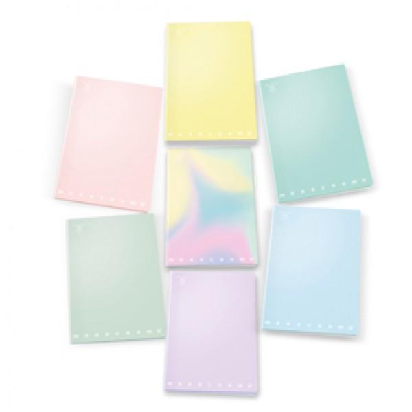 Maxi quaderno A4 80gr 40+2fg 1rigo c/margine linea Pastel Monocromo Pigna
