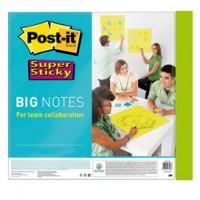 Blocco 30 fogli Post-it®Super Sticky 558x558mm Big Notes Verde neon BN22-EU