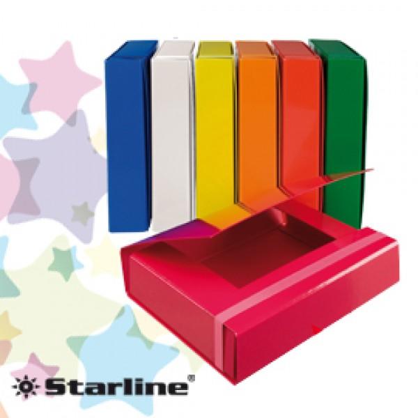 CARTELLA PROGETTO DORSO 5CM c/elastico BIANCO STARLINE