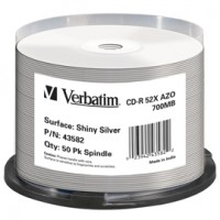 SCATOLA 50 CD-R DATALIFEPLUS SPINDLE 1X-52X 700MB TERMICA SILVER